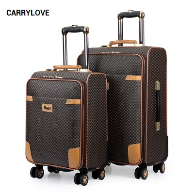 CARRYLOVE 2018 Business luggage 20/24 size High-quality PU Rolling Luggage Spinner brand Travel Suitcase цена