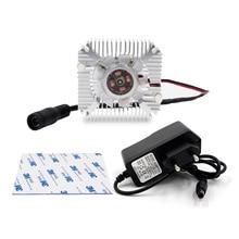 1Set Radiator With Fan Aluminum Heatsink High Quality 55x55x12mm 110V 220V Heat Sink For LED Chip Beads Heat Dissipation EU Plug