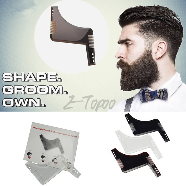 2018 new design beard shaping tools durable beard trimmer template