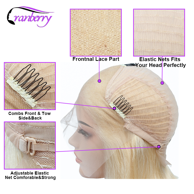 Brazilian Wig 13x4 Short Bob Remy Wig Straight Lace Front Human Hair Wigs Cranberry Hair Lace Frontal Wig For Black Women