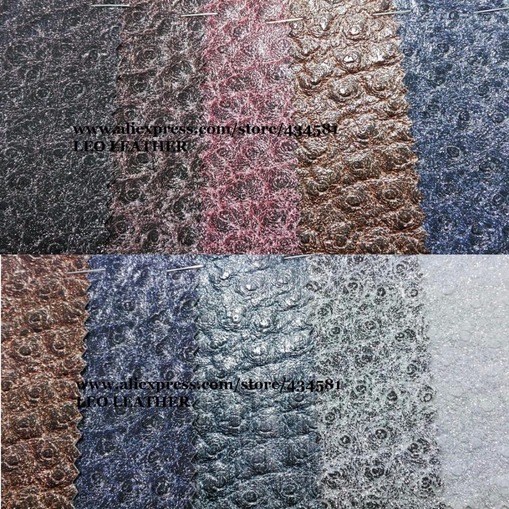 Autruche En Cuir Microfibre Tissu, Faux Cuir Tissu, synthétique En Cuir Vintage BRICOLAGE Matériel pour sacs mobile chaussures P848