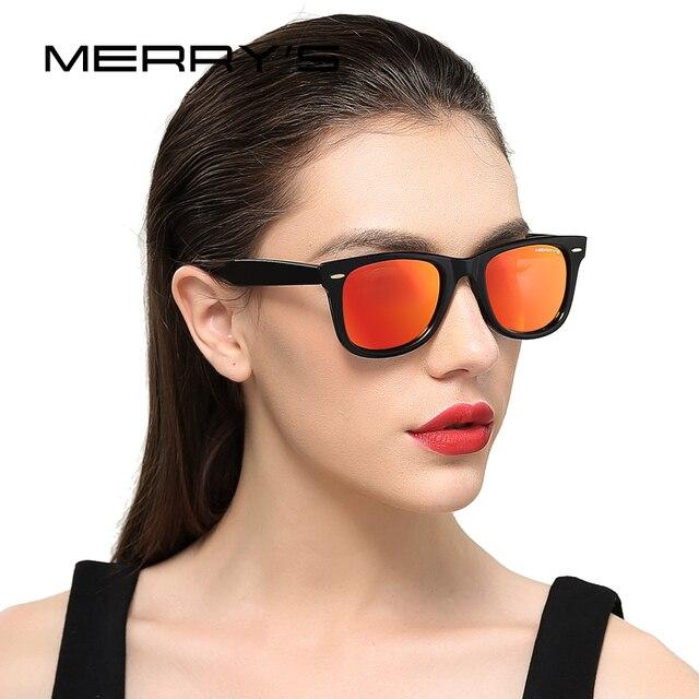 dc9c559446 MERRY S DESIGN Men Women Classic Retro Rivet Polarized Sunglasses 100% UV  Protection S 8140