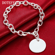 925 Sterling Silver Round Brand Bracelet Female Classic All-Match Temperament Fashion A Birthday Present Wholesale Jewelry(China)