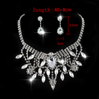 Exquisite Luxury Bridal Dubai Jewelry Sets Silver Plated CZ Diamond Vintage Statement Necklaces Earrings Aros Bisuteria