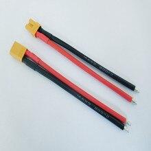 XT30 Мужской Женский Разъем с 14AWG силиконовый провод 10 см 100 мм зарядный кабель для аккумулятора для RC Lipo ESC