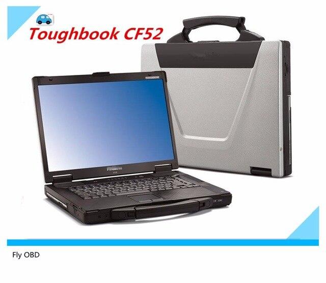 Frete grátis Para Panasonic Toughbook Laptop CF52 CF-52 Militar Laptop pode trabalhar para bmw icom a2 Diagnóstico e mb estrela c3 c4/c5