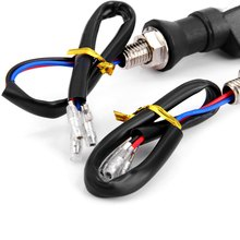 Motorcycle Double Color Flasher Turn Signals Blinker Indicator 12 LEDs 3528 SMD 2pc 9 yellow LED with 3 blue LED for Motorcycle