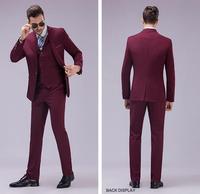 Groomsmen Center Vent Slim Fit Groom Tuxedos Notch Lapel Men S Suit One Button Best Man