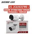 Бесплатная доставка, английская версия, DS-2CD2035FWD-I, 3MP, ультра-низкий светильник, сеть, мини, пуля, IP, CCTV, камера безопасности, POE, SD карта, H.265 +