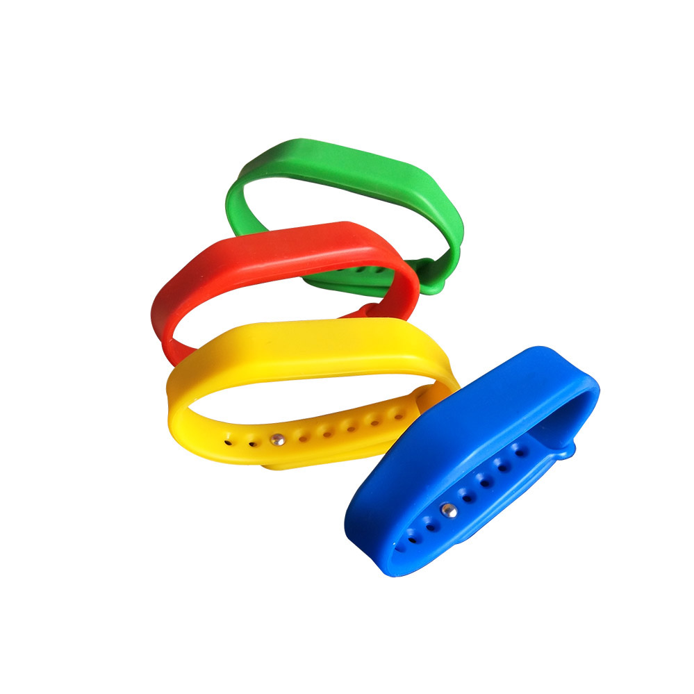 New Adjustable TK4100 125khz Read-only Silicone Waterproof RFID Wristband Bracel ID Tags