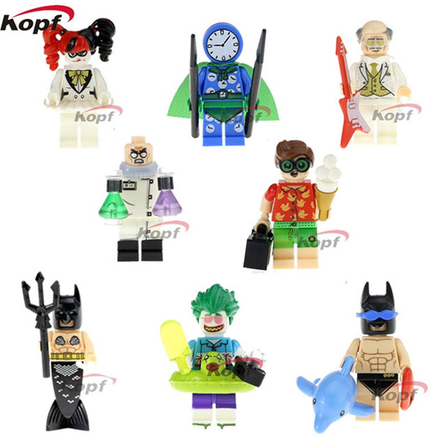 0eac9211652 20 Pcs Building Blocks Super Heróis Robin Relógio Rei Hugo Estranho Clown  Joker Harley Quinn Batman