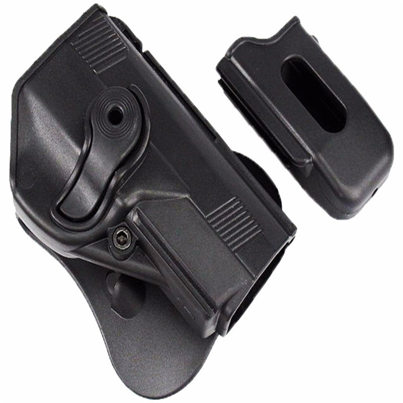 Military Imi style Tactical for Beretta PX4 RH Pistol Paddle waist Holster with magazine pouch Black Tan color tactical army force leather shoulder pistol holster for 654k with magazine pouch