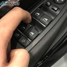 Para BMW 1 2 3 4 5 7 Serie X1 X3 X4 F20 F22 F30 F32 F10 F01 E84 F25 F26 puerta elevador de ventanas botón pegatinas Trim accesorios de la cubierta
