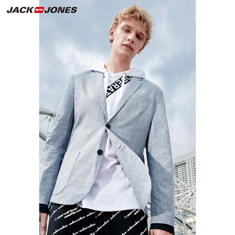7aed569357825 Jack Jones marka 2018 nowy smart casual slim fit wersja jednolity ...