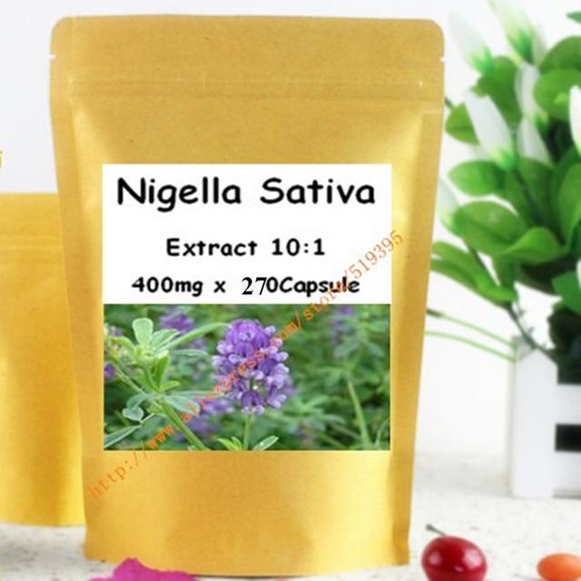 1 Pack Nigella Sativa Семена Черного Тмина Экстракт Капсула 400 мг х 270 шт. бесплатная доставка