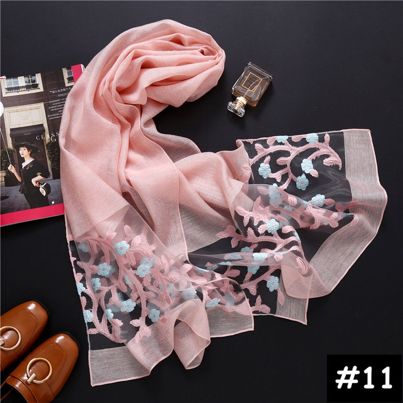 Luxury Women plain scarf/scarves fashion organza cosy muslim head scarfs hijab big size echarpe wraps muffler hot sale 12 colors