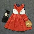 2016 Retailer Spring Summer Sweet Toddler Baby Girls Fox Cotton Dress Ruffles Casual Fashion Dresses Orange Easter Xmas Dress