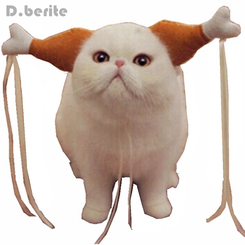 Turkey Chicken Drumstick Headband Dog Chicken Leg Hoop Party Funny Props Cat Headdress Lovely Accessories Costumes Fmd7020