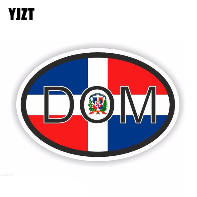 Yjzt 12 5cm 8 2cm Personality Dominican Republic Decal Country Code Car Sticker Accessories Pvc