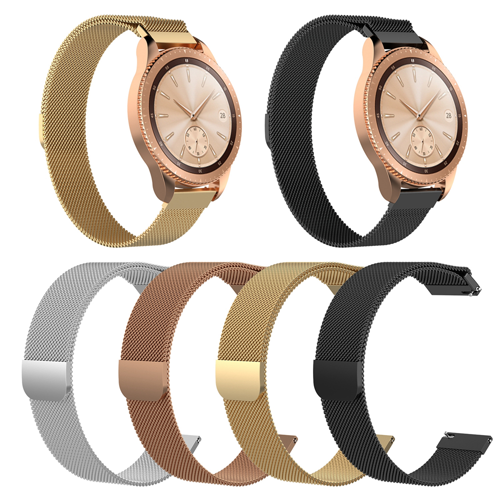 Milanese Magnetic Watch Band Wrist Strap for Samsung Galaxy Watch 42mm SM-R810 for Garmin vivoactive3 / 3 music Smart Watch