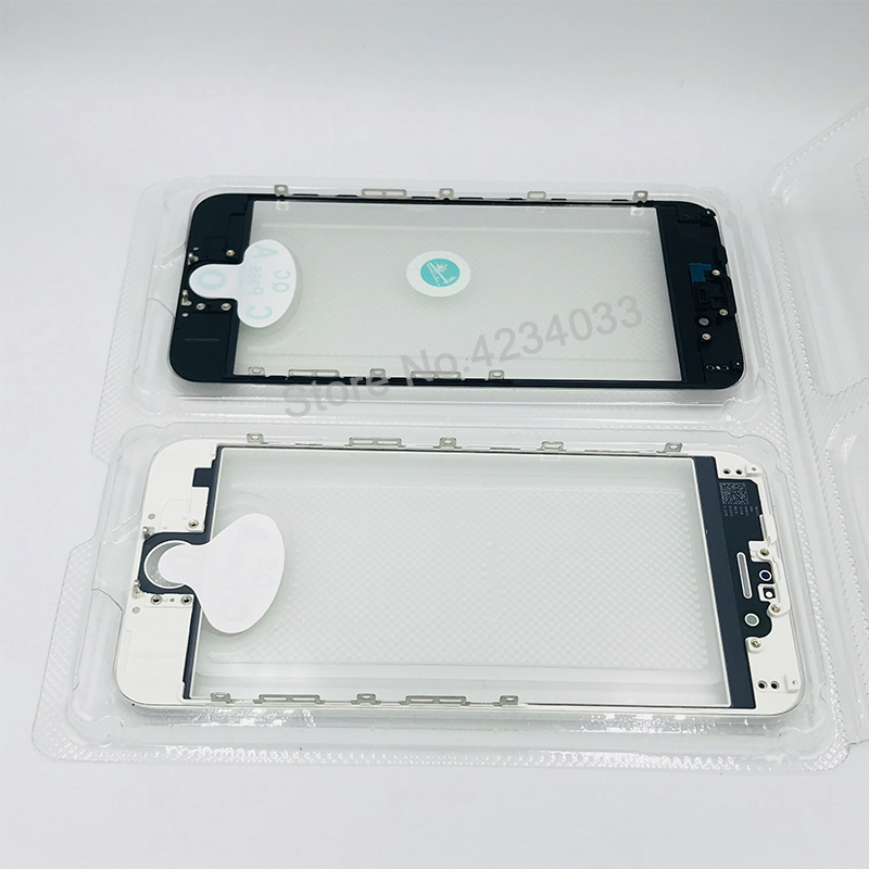 1pcs/lot AAA+ Cold Press Replacement LCD Front Touch Screen Glass Outer Lens with frame OCA film for iphone 6 6s plus 5s 5g 5c
