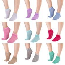 Women Yoga Socks Cotton Dance Gym Sport Non Slip Massage Pilates Fitness Socks цены онлайн