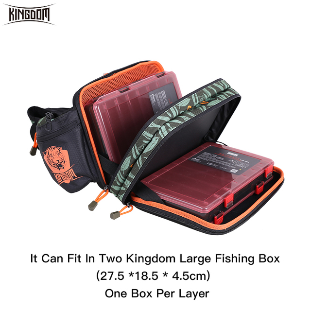 Kingdom 2019 New Waterproof Fishing Bag Large Capacity Multifunctional Fishing Lure Box Tackle Backpack Outdoor Shoulder Bags 3