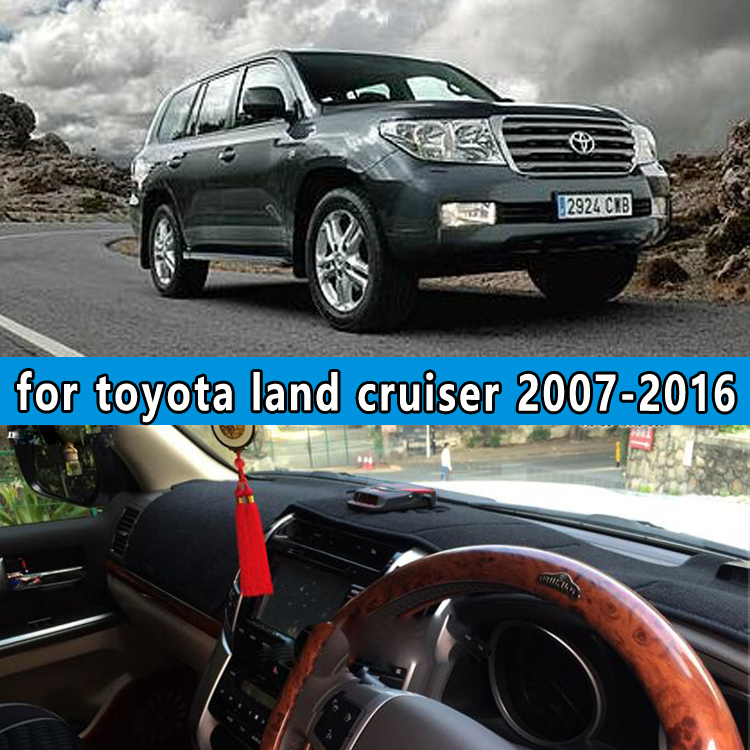 dashmats car-styling accessories dashboard cover for toyota LAND CRUISER v8 j200 LC200 LC120 LC150 2007 2016 2008 2009 2010 rhd