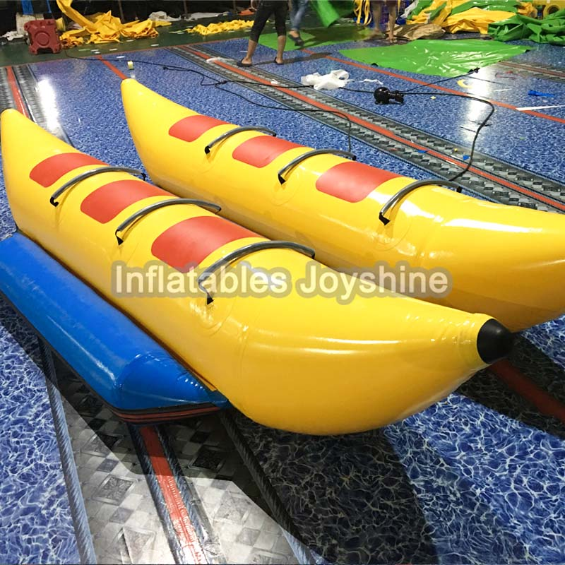 Free Shipping 6 persons seats inflatable flying water banana boat,inflatable flying fish/flyfish sea games
