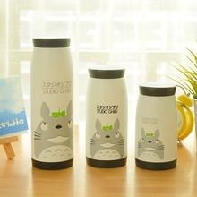 1 stück Kinder Wasserflasche Edelstahl Thermos Tassen Tragbaren Cute Cartoon Totoro Trinkflasche