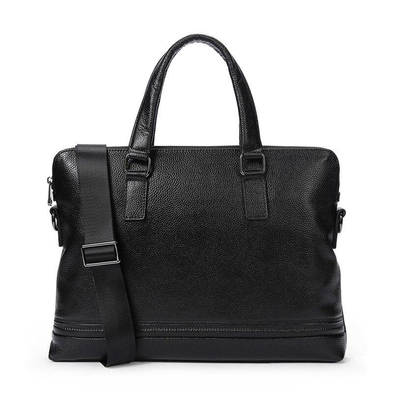 Business Crossbody Genuine Leather Men Bag Male Messenger Bag Men's Briefcase Fashion Tote Shoulder Bag Handbag Leather Bags эрже приключения тинтина секрет единорога