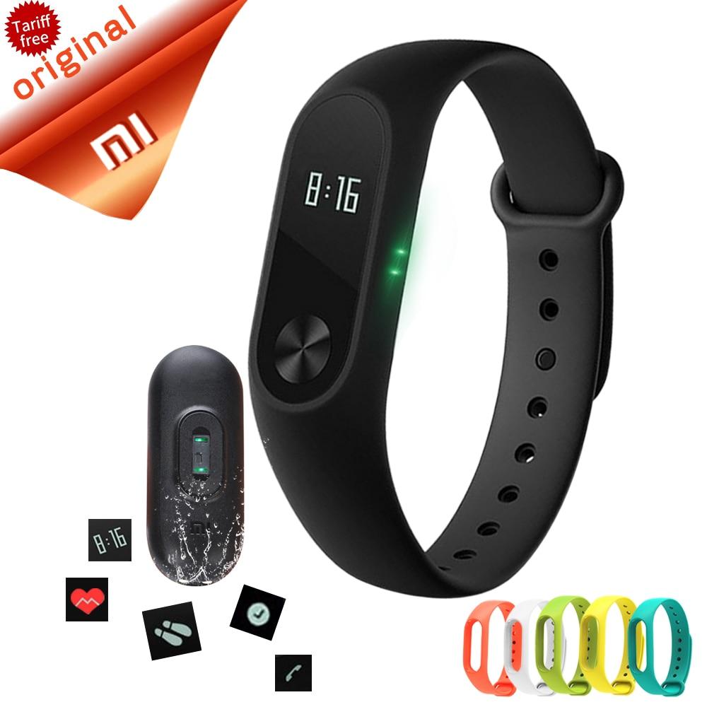 На складе Xiaomi MI Группа 2 Смарт Браслет Сердце Пульс Xiaomi Miband 2 Браслеты xiaomi mi группа 2 С OLED фитнес браслет