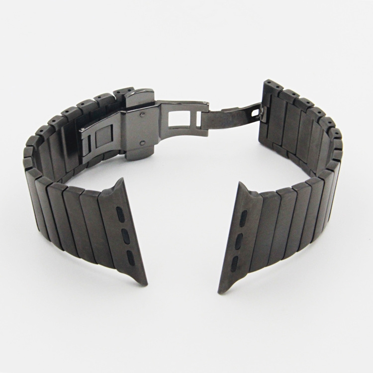 Image 5 - URVOI link bracelet for apple watch band series 5 4 3 2 1 stainless steel strap for iwatch with butterfly buckle 38/40/42/44mm-in Watchbands from Watches