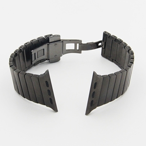 Image 5 - URVOI link bracelet for apple watch band series 6 SE 5 4 3 2 1 stainless steel strap for iwatch with butterfly buckle 40/44mm