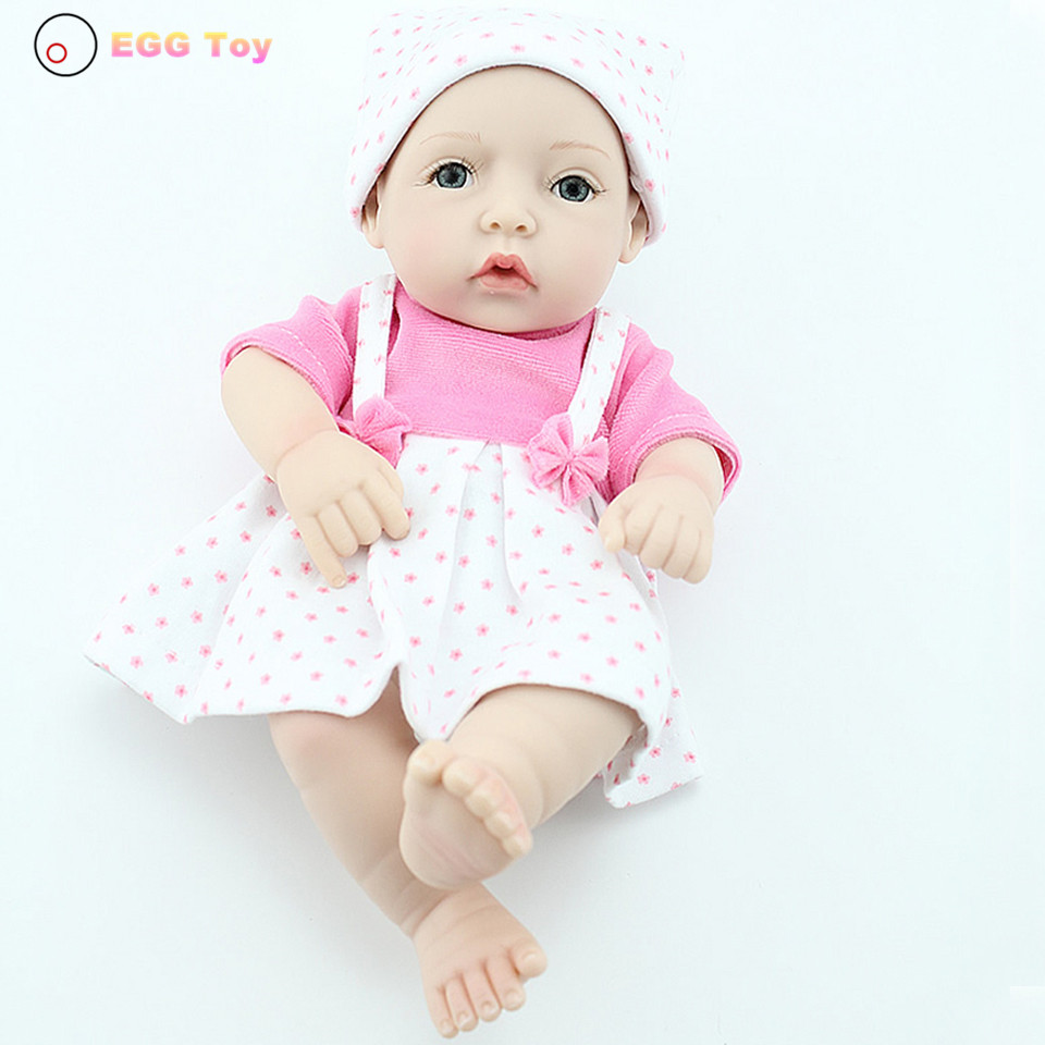 ФОТО toys Full body Silicone Reborn Doll Toy bath Baby 28cm Lifelike Baby Girls gift  Doll Educational toy Play House Reborn Doll