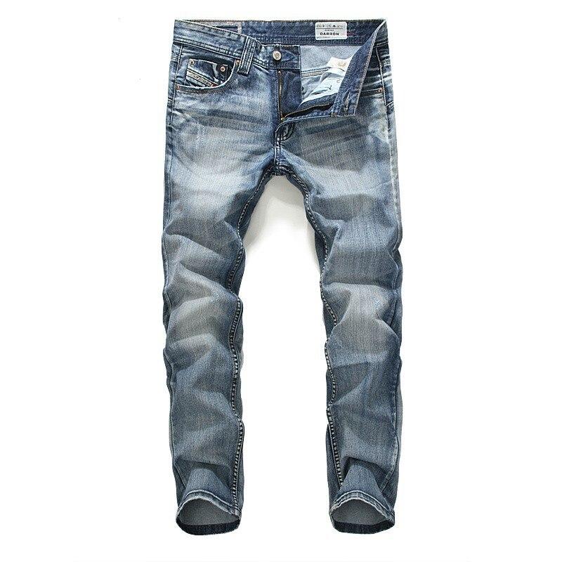 Casual Straight Cotton Jeans Men Fashion Slim Plus Size Full Length Mens Jeans Brand Clothing Denim Skinny Pants Long Trousers