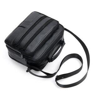 Image 3 - New Men Leather Handbag Zipper men Business bag Black Male Bag Shoulder bags Messenger bags mens briefcases bag Crossbody bag