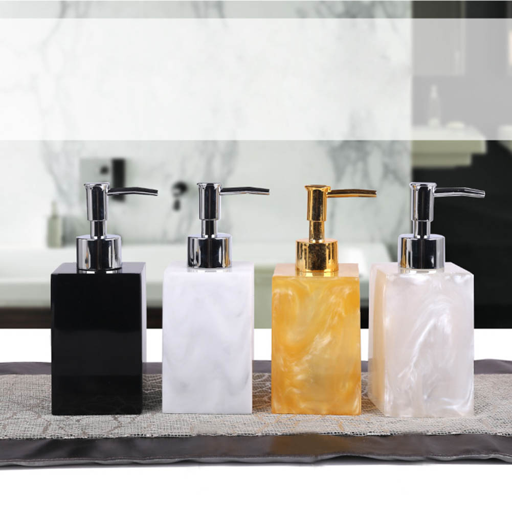 5 Pcs Resin Bath Accessories Set Lotion Dispenser With Pump+Toothbrush  Holder+Soap Dish