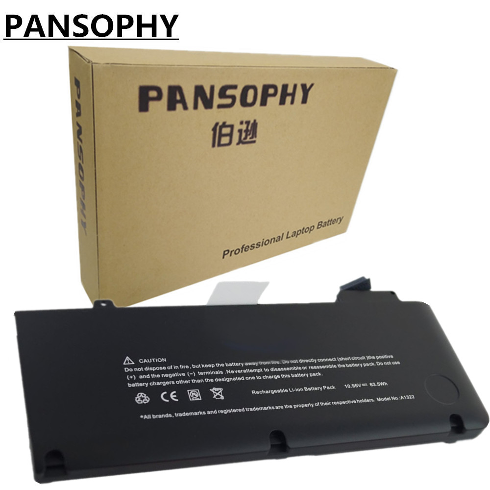 PANSOPHY New Replacement Laptop Battery For 13 2009 - 2010 Apple Macbook Pro A1278 Unibody Battery A1322 020-6547-A battery for apple for macbook a1331 a1342 mb134ll mb470ll mc024ll mc226ll mb076ll mb766ll mb604ll 020 6809 a 020 6810 a bateria