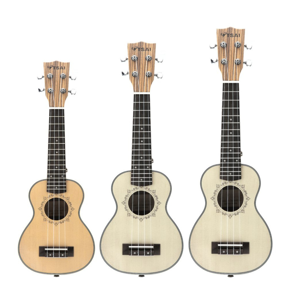 TSAI Ukulele Soprano Concert Tenor Acoustic Electric Ukulele Mini Guitar With EQ Zebra Wood Plug-in Musical Instrument andrew zebra in the 23 inches mr kerry wood small guitar beginners gray unisex ukraine lili
