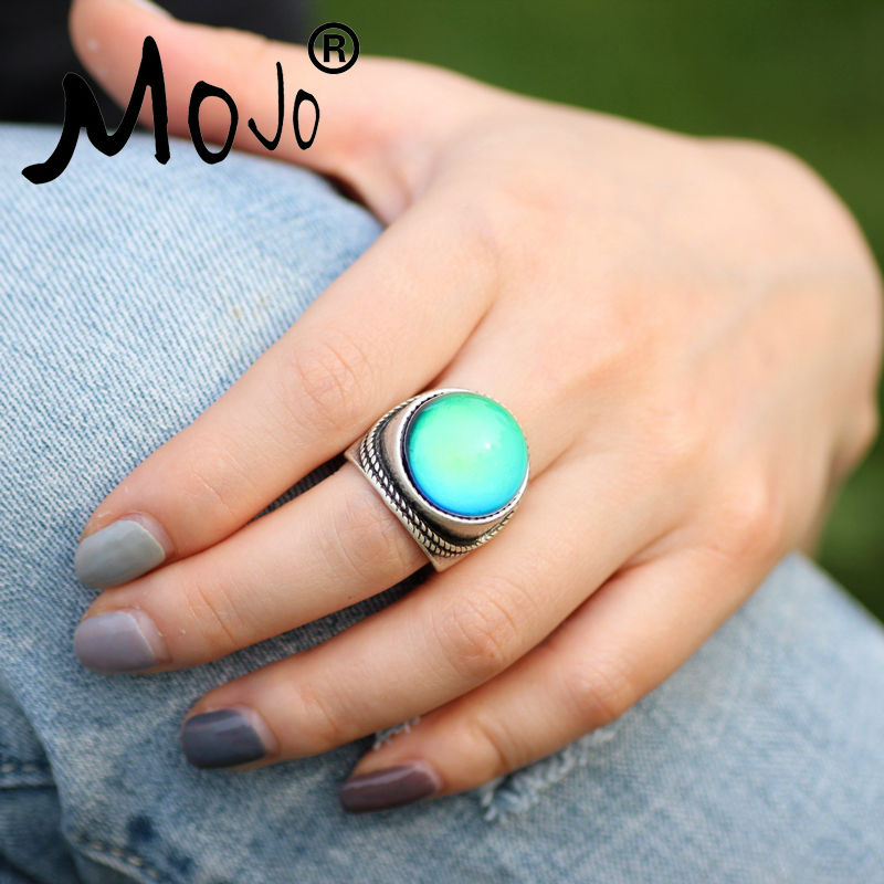 Mojo Vintage Bohemia Retro Color Change Mood Ring Emotion Feeling - Fashion Jewelry - Photo 5