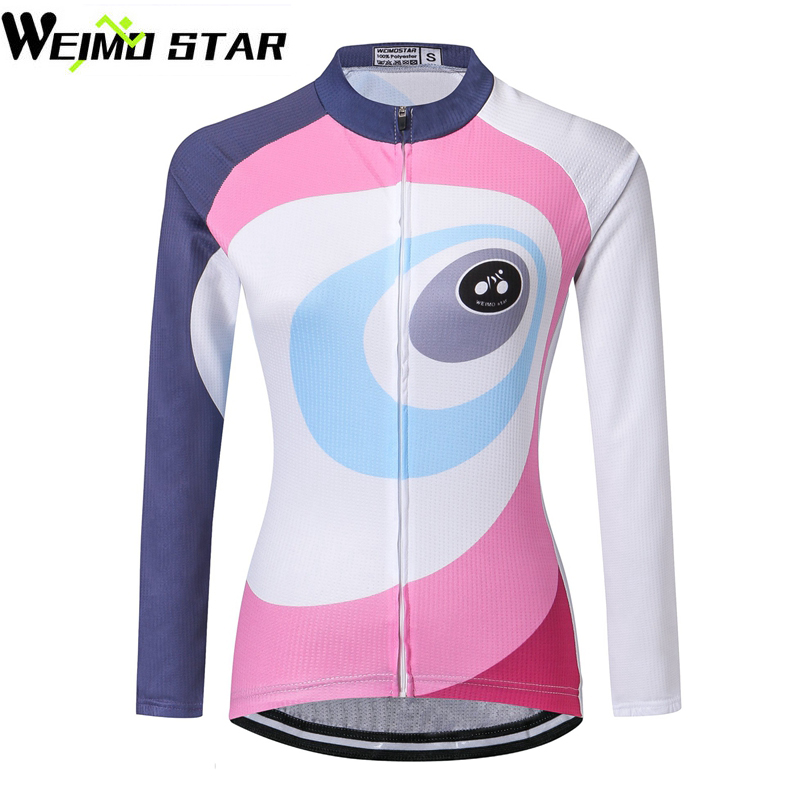 WEIMOSTAR Team PRO Womens Riding Jersey Ropa ciclismo Long Sleeve Cycling Jersey Bike MTB Tops Breathable Clothing Jackets