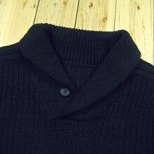 Siriusha Christmas 2016 e male shawl collar turn-down collar vintage knitting pullover sweater thickening