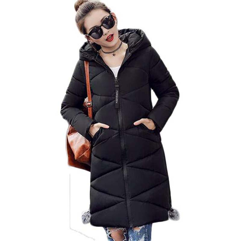 2017 Winter Clothing For Women Hooded Outerwear Long Plus Size Cacual Thick Coat female  jacket Wadded Cotton Coats XT0231 plus size cotton coats 2017 new women loose clothing winter thick jacket long sleeve top hooded outerwear abrigos mujer lh010