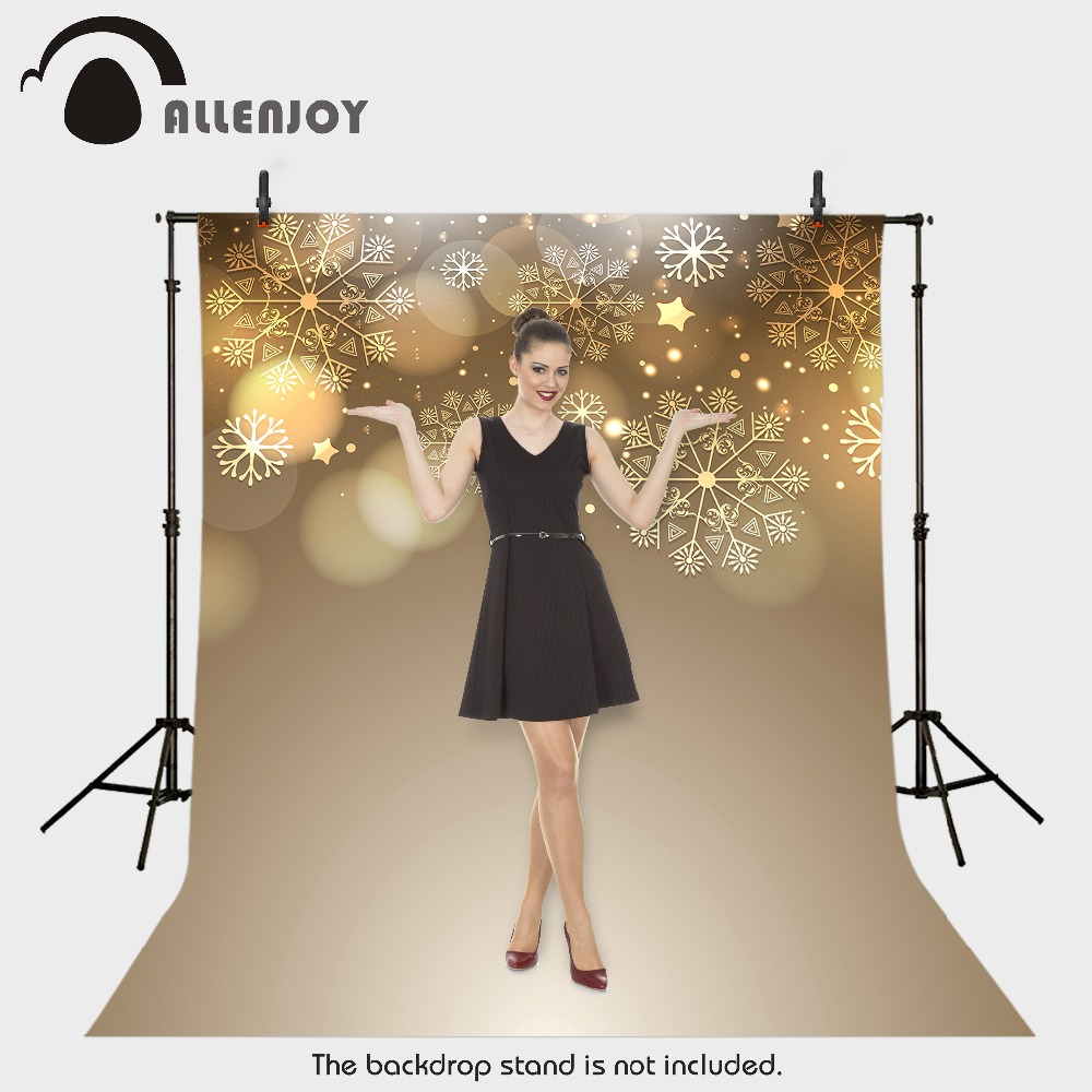 Background photography vinyl backdrop Snowflake Christmas stars blur for a photo shoot photographic camera