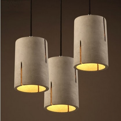 Creative Cement Droplight Loft Vintage Pendant Light Fixtures LED ...