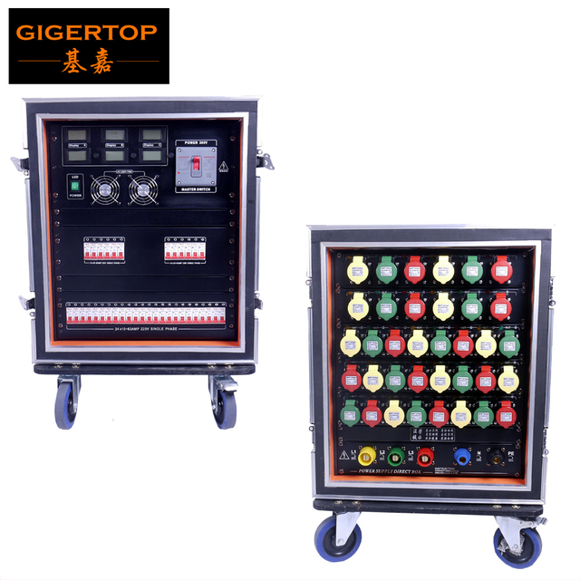 Gigertop 13u Road Case Mains Distribution Distro Box Led Stage Lighting 220v Single Phase 36x32amp