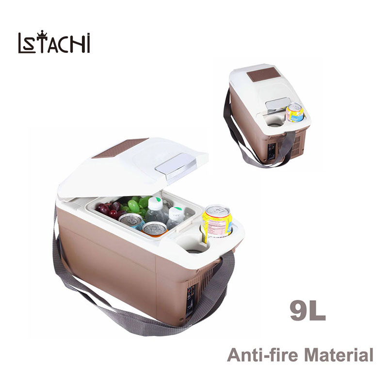 LSTACHi Car Refrigerator 9L Auto Fridge Mini Cooler Box Freezer 12V 5 To 65 Degree For Universal Cars
