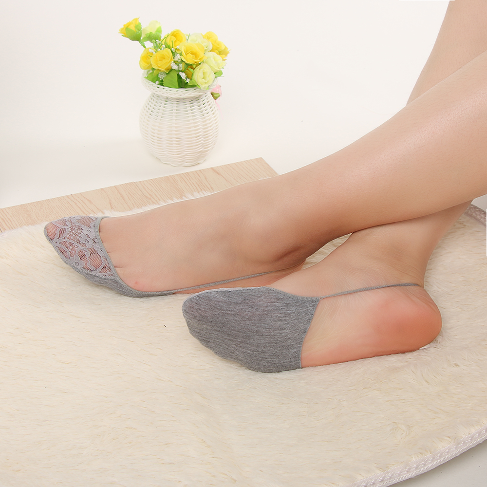 1Pair NEW Fashion Women Lady Socks Sexy Cotton Half Feet Antiskid Invisible Liner No Show Low Cut Sling Short Sock Summer high heels
