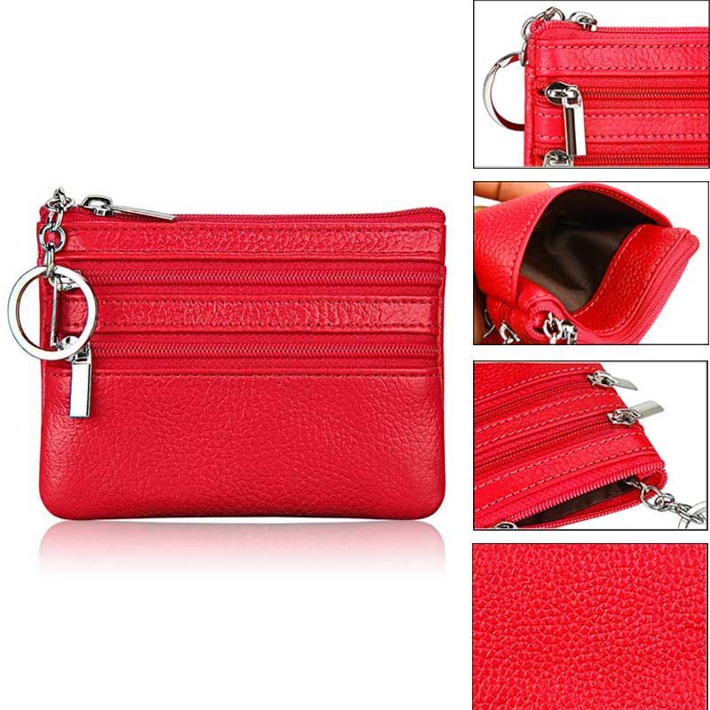 Womens PU Leather Coin Purse Fashion Small Zipper Bag Mini Wallet Pocket Credit Card Case LXX9